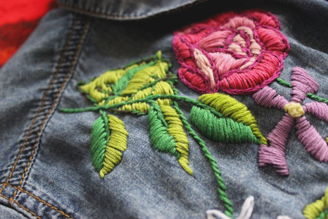 Embroidery Closeup Beginner Stitches My Actual Brand
