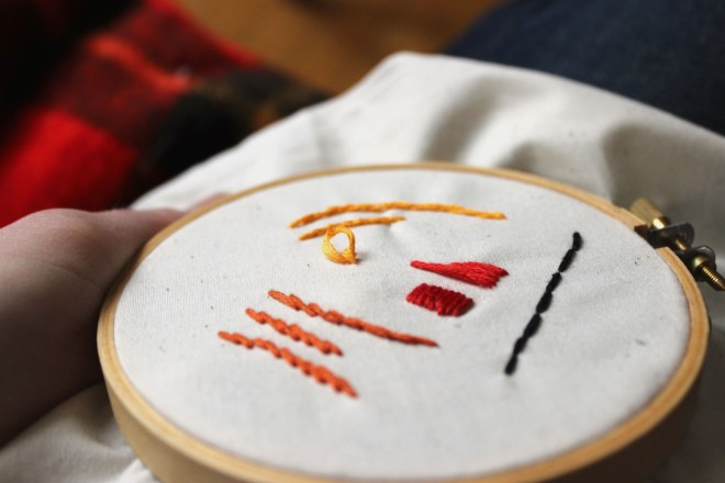 French Knot Step Six Embroidery How To