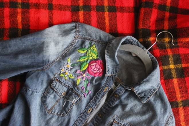 Hand Embroidered Denim Shirt My Actual Brand