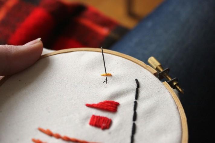 Split Stitch Step 2 How to do Split Stitch Embroidery copy