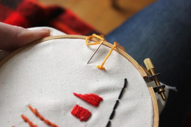 Split Stitch Step 3 Embroidery Basics My Actual Brand