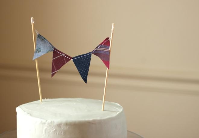 Bunting Cake Topper DIY Tutorial New Sew Cake Topper Bunting