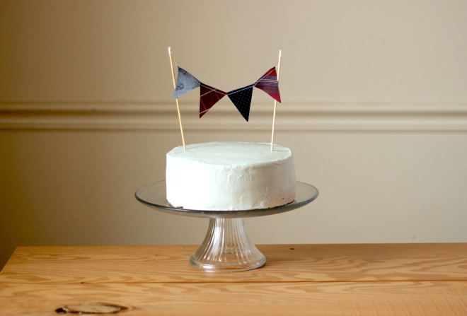 Bunting Cake Topper DIY Tutorial No Sew Bunting Tutorial