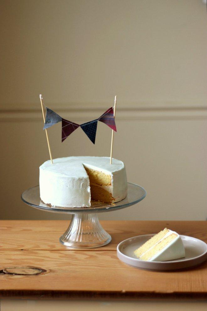Cake Bunting Topper - DIY Bunting Cake Topper Tutorial