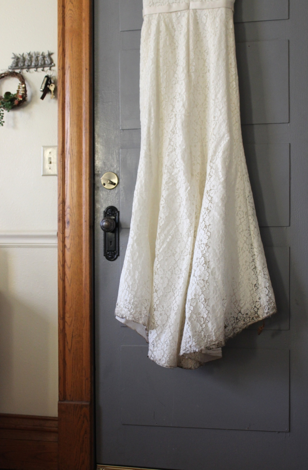 Wedding Dress After My Actual Brand