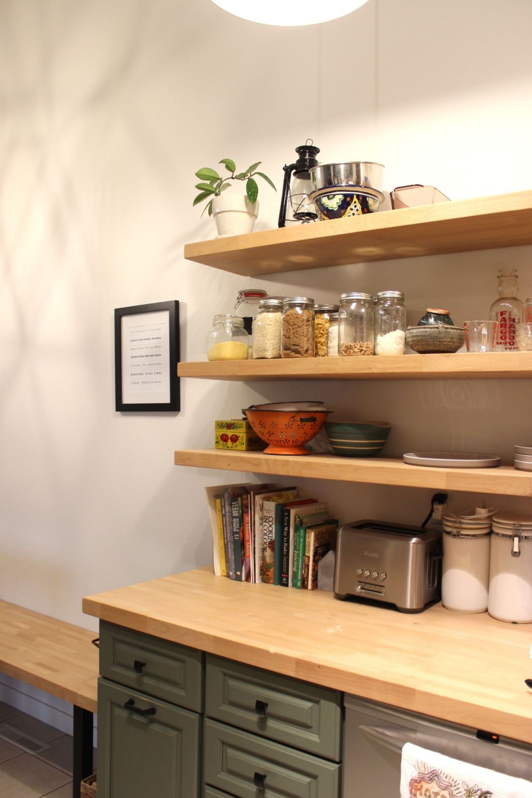 Kitchen Open Shelving My Actual Brand